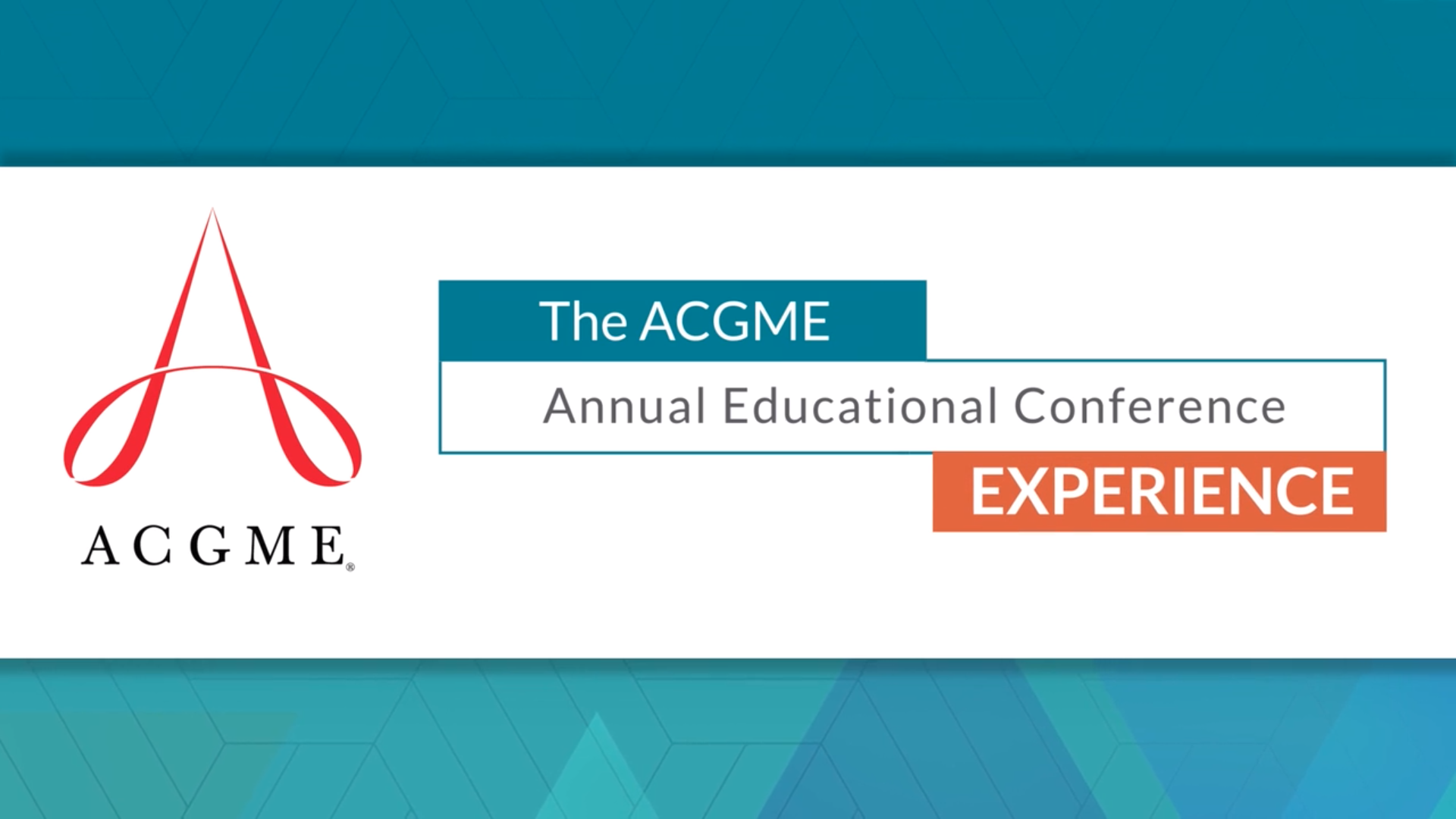 ACGME Annual Educational Conference - San Diego, CA